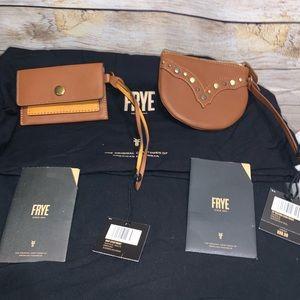 Frye Bag Bundle Saddle Leash Pockets with Dustbag